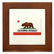 Flag of California Framed Tile
