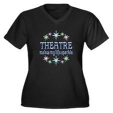 Theatre Spar Women's Plus Size V-Neck Dark T-Shirt