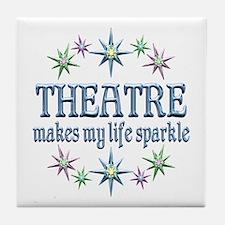 Theatre Sparkles Tile Coaster
