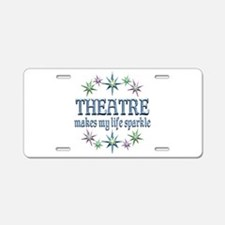 Theatre Sparkles Aluminum License Plate