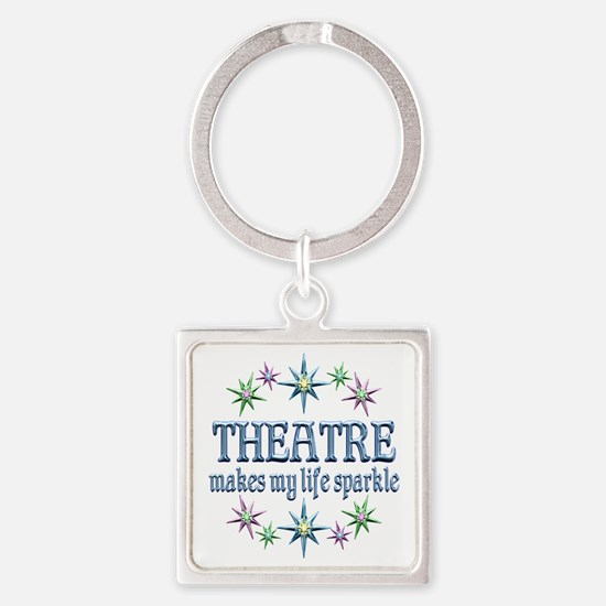 Theatre Sparkles Square Keychain
