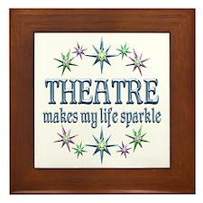 Theatre Sparkles Framed Tile