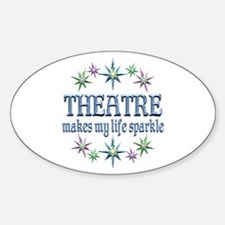 Theatre Sparkles Sticker (Oval)