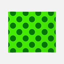Green Green Green Throw Blanket
