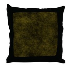 Black And Gold Fabric Throw Pillow
