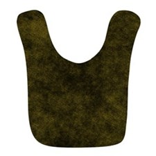 Black And Gold Fabric Bib