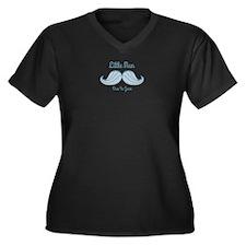 Mustache LM Women's Plus Size V-Neck Dark T-Shirt