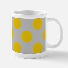 Yellow Polkadots on Gray Mugs