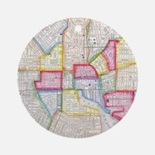 Vintage Map of Downtown Baltimore ( Round Ornament