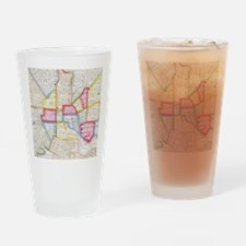 Vintage Map of Downtown Baltimore ( Drinking Glass
