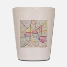 Vintage Map of Downtown Baltimore (1860 Shot Glass