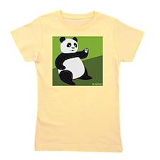 Panda Avatar on Bamboo Green Girl's Tee
