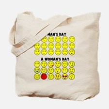 Male Vs Female Emoticons Tote Bag