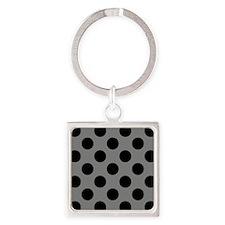 Black and Gray Polkadots Keychains