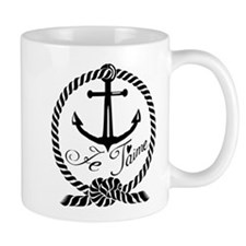 Je Taime with Anchor design Mugs