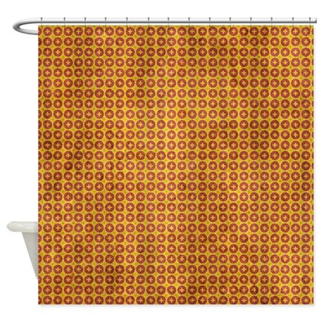 Red And Yellow Grunge Wallpaper Shower Curtain By Cuteprints
