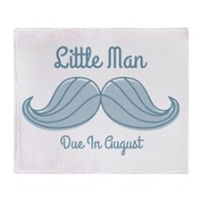 Mustache LM Aug Throw Blanket