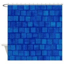 Blue Blocks Shower Curtain