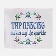 Tap Dancing Sparkles Throw Blanket