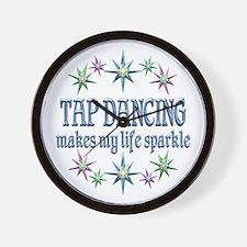 Tap Dancing Sparkles Wall Clock