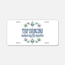 Tap Dancing Sparkles Aluminum License Plate