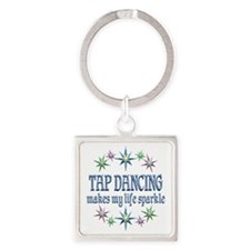 Tap Dancing Sparkles Square Keychain
