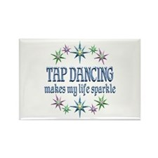 Tap Dancing Sparkles Rectangle Magnet (100 pack)