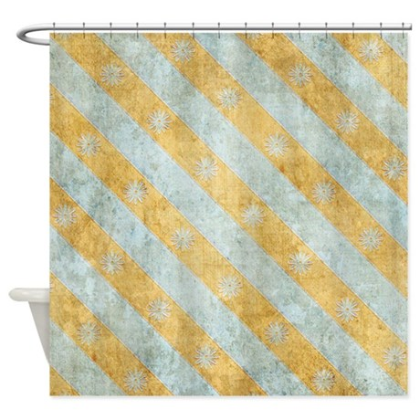 Blue And Orange Shower Curtain By VeryCute