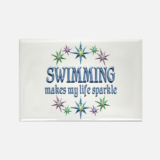 Swimming Sparkles Rectangle Magnet