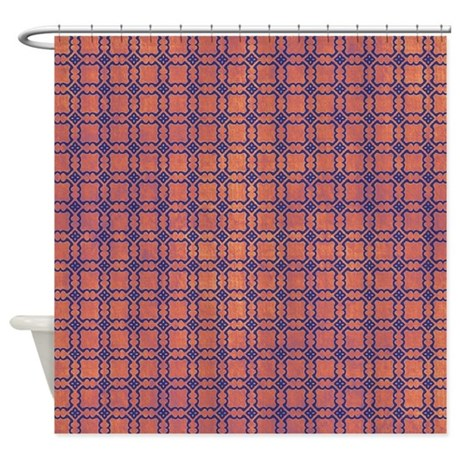 Orange And Blue Shower Curtain By VeryCute