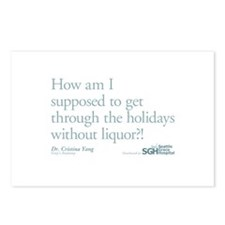 Holidays Without Liquor Quote Postcards (Package o