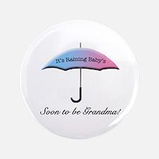 "Umbrella Soon To Be Grandma 3.5"" Button"