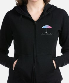 Umbrella Soon To Be Grandma Women's Zip Hoodie