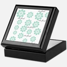 Retro Floral Fashion Mint Green White Pattern Keep