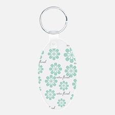 Retro Floral Fashion Mint Green White Pattern Keyc