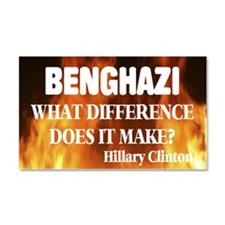 Benghazi What Difference Does Car Magnet 20 X 12