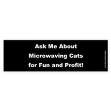 Ask Me About Microwaving Cats - Black