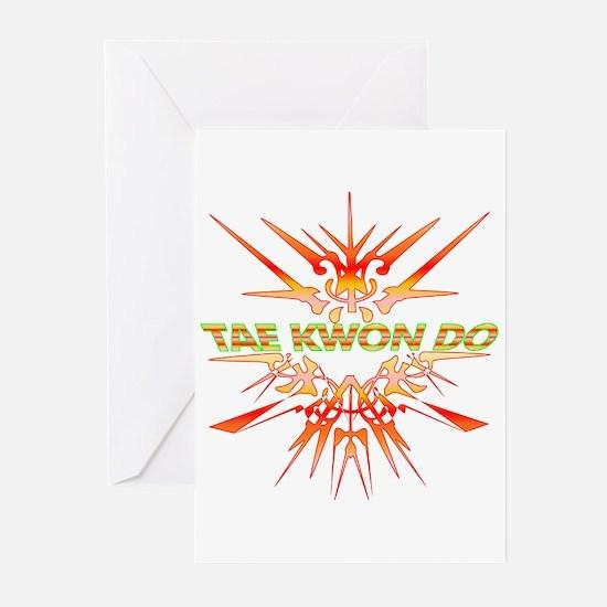 TaeKwonDo Abstract Sparring Greeting Cards (Pk of