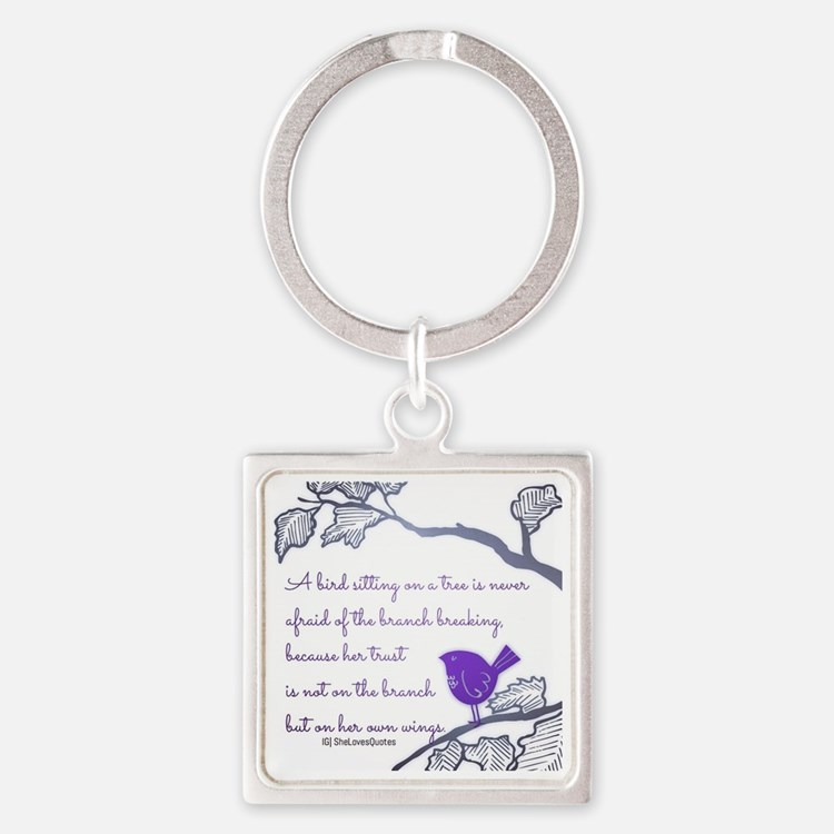Her own wings Square Keychain