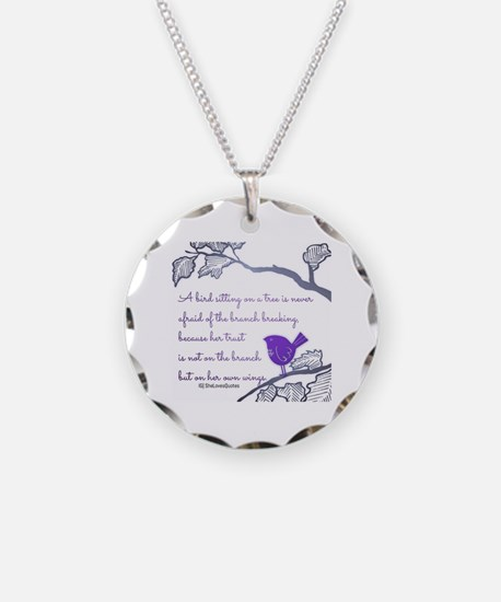 Her own wings Necklace Circle Charm