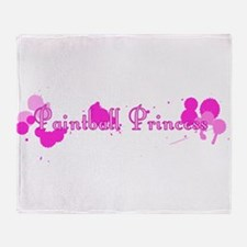 Paintball Princess Throw Blanket