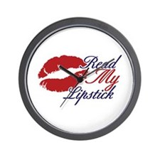 Read My Lipstick Wall Clock