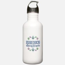 Square Dancing Sparkle Water Bottle