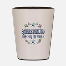Square Dancing Sparkles Shot Glass