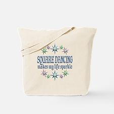 Square Dancing Sparkles Tote Bag
