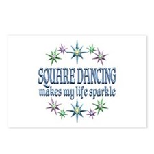 Square Dancing Sparkles Postcards (Package of 8)