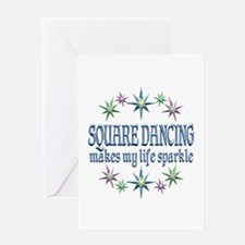 Square Dancing Sparkles Greeting Card