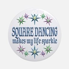 Square Dancing Sparkles Ornament (Round)