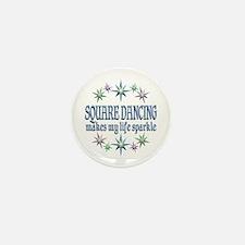 Square Dancing Sparkles Mini Button (10 pack)