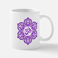 Purple Lotus Flower Yoga Om Mugs